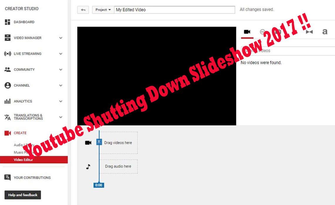 youtube shutting down slideshow 2017